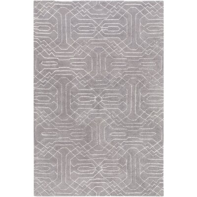 Brey Hand-Tufted Gray Area Rug Rug size: Rectangle 5 x 76