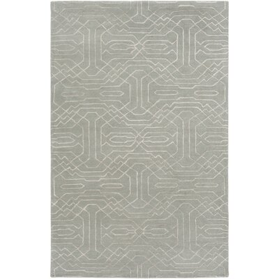 Brey Hand-Tufted Light Gray/Cream Area Rug Rug size: Rectangle 5 x 76