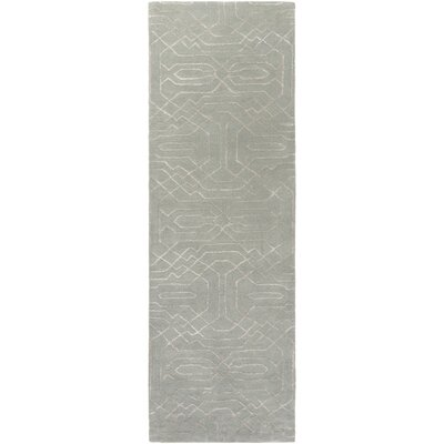 Brey Hand-Tufted Light Gray/Cream Area Rug Rug size: Runner 26 x 8