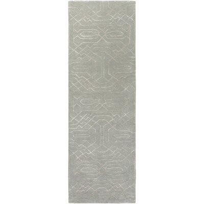 Brey Hand-Tufted Light Gray/Cream Area Rug Rug size: Runner 26 x 8