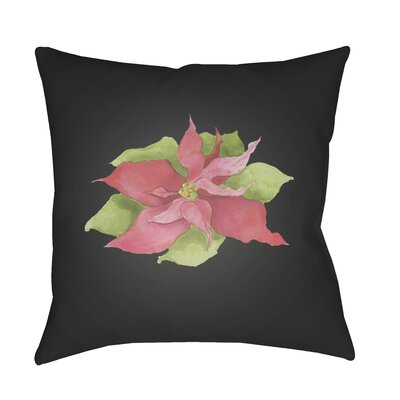Poinsettia Indoor/Outdoor Throw Pillow Size: 18 H x 18 W x 4 D