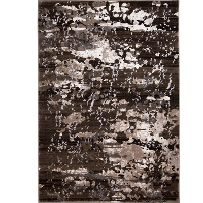 Daly Brown/Beige Area Rug Rug Size: 52 x 72