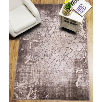 Daly Cream/Gray Area Rug Rug Size: 52 x 72