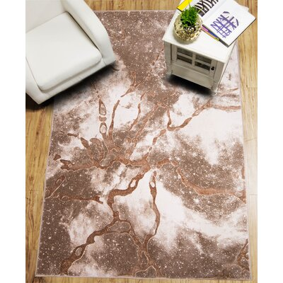 Daly Beige Area Rug Rug Size: 52 x 72