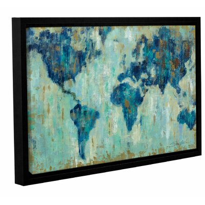 'Map of the World' Framed Painting Print Size: 12