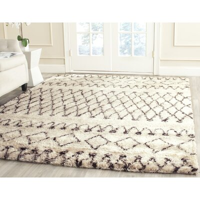 Gholston Tan/Brown Area Rug Rug Size: Rectangle 4 x 6