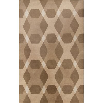 Diamond Hand-Loomed Beige Area Rug Rug Size: 8 x 10