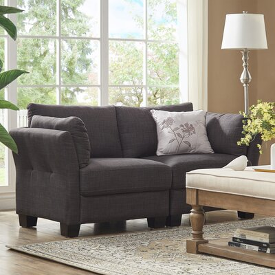Camp Mabry Loveseat Upholstery: Dark Gray