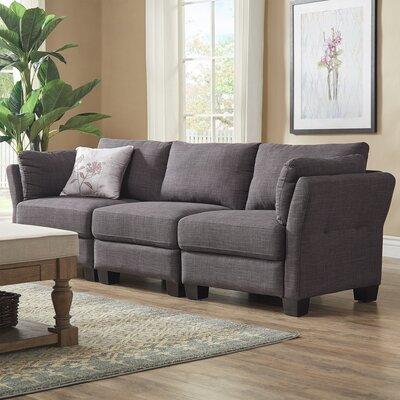 Camp Mabry Sofa Upholstery: Dark Gray