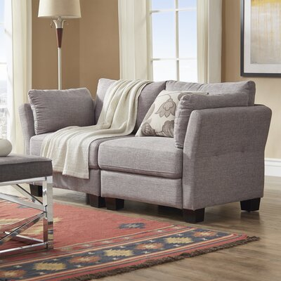 Camp Mabry Loveseat Upholstery: Gray