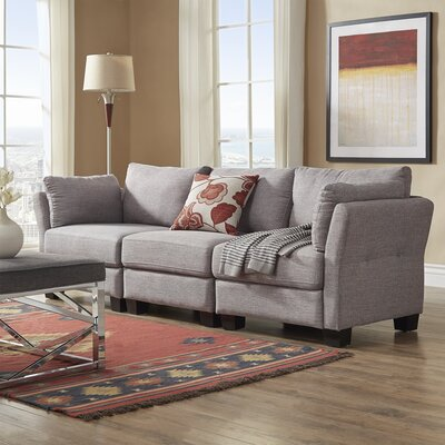 Camp Mabry Sofa Upholstery: Gray