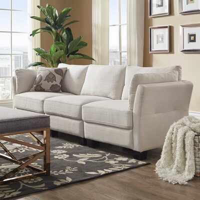 Camp Mabry Sofa Upholstery: White