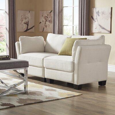 Camp Mabry Loveseat Upholstery: White