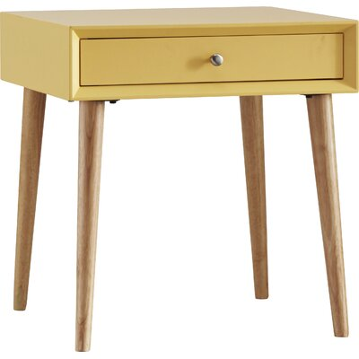 Blakeney End Table With Storage Color: Yellow