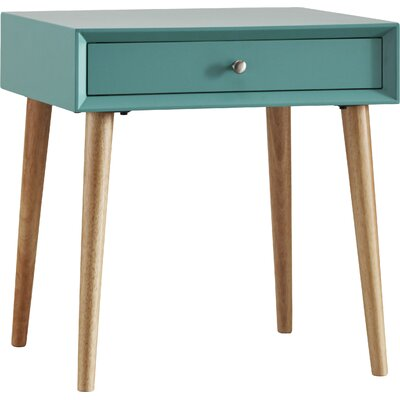Blakeney End Table With Storage Color: Marine Green