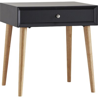 Blakeney End Table With Storage Color: Vulcan Black