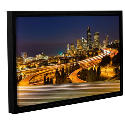 Highway to Seattle 2' Framed Photographic Print on Wrapped Canvas Size: 12