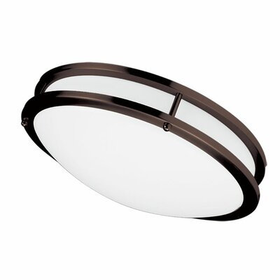 Amy 1-Light Flush Mount Finish: Bronze, Size: 4.25 H x 16 W x 16 D