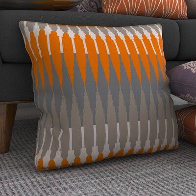 Gleaton Linear Throw Pillow Color: Orange