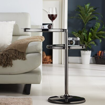 Cusson End Table Finish: Black