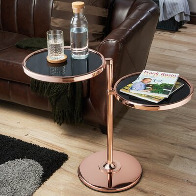 Cusson End Table Color: Rose Gold