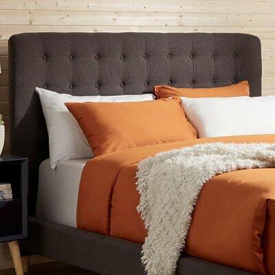 Blakeman Panel Headboard Upholstery: Dark Gray, Size: Full