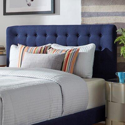 Blakeman Panel Headboard Upholstery: Twilight Blue, Size: Queen