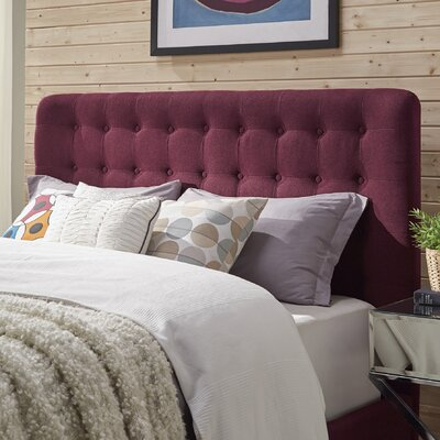 Blakeman Panel Headboard Upholstery: Tawny Port, Size: Queen
