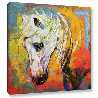 White Horse Painting Print on Wrapped Canvas Size: 10