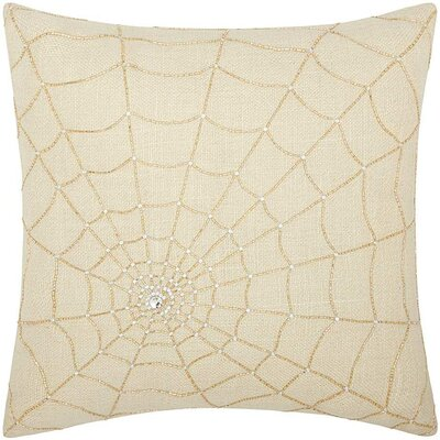 Mikonos Gold Throw Pillow