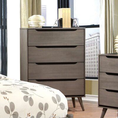 Mason 4 Drawer Chest Finish: Gray