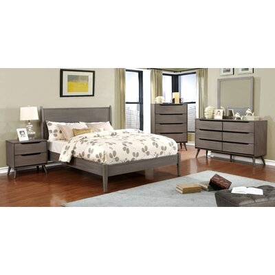 Mason Mid-Century Modern Platform Customizable Bedroom Set