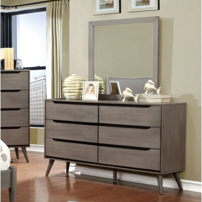 Mason 6 Drawer Dresser with Mirror