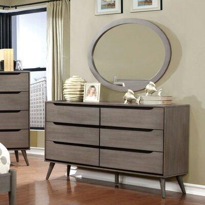 Mason 6 Drawer Dresser with Mirror