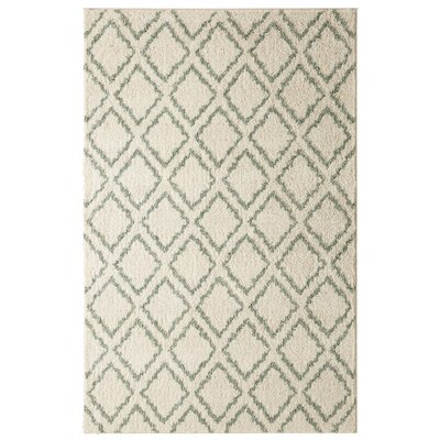 Norvell Magic Fret Beige/Aqua Area Rug Rug Size: 5 x 7