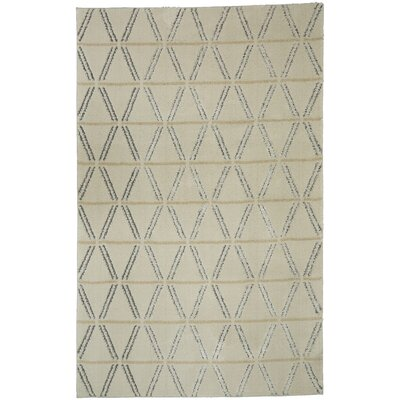 Braydon Linear Diamonds Tan/Gray Area Rug Rug Size: 5 x 7
