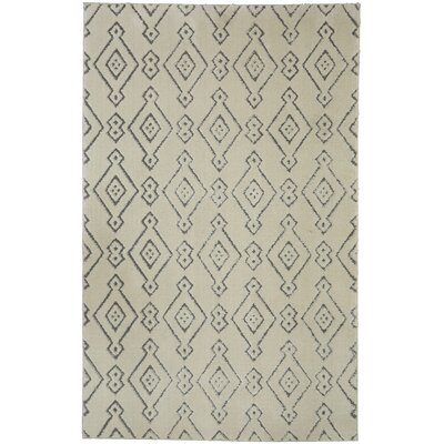 Braydon Painted Diamonds Cream/Gray Area Rug Rug Size: Rectangle 8 x 10