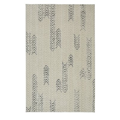 Braydon Arrow Waves Cream/Gray Area Rug Rug Size: 8 x 10