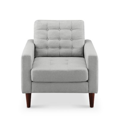 Amore Tufted Buttons Arm Chair Upholstery: Dove Grey