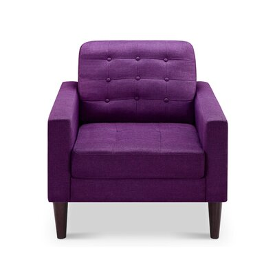 Amore Tufted Buttons Armchair Upholstery: Scented Violet