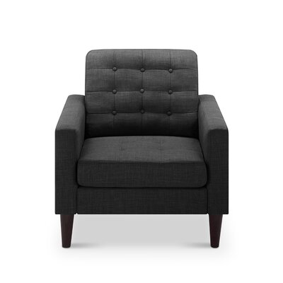 Amore Tufted Buttons Armchair Upholstery: Charcoal