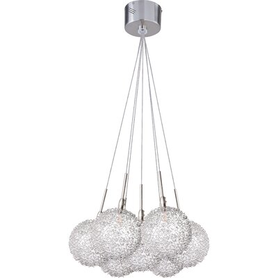 Kugler 7-Light Pendant Glass Color: Mesh