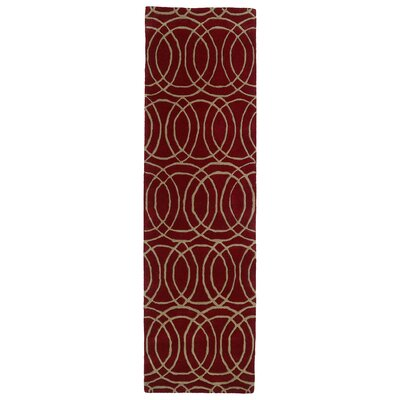 Bodine Red Area Rug Rug Size: Runner 23 x 8