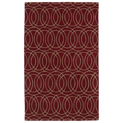Bodine Red Area Rug Rug Size: 2' x 3'
