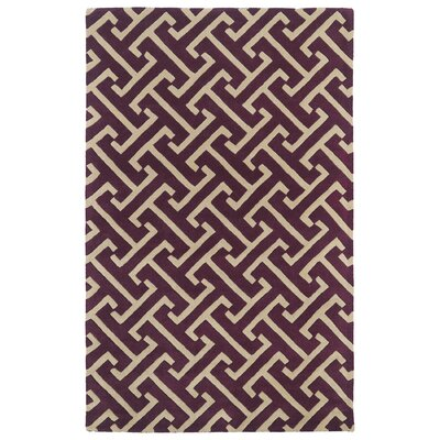 Vanauken Plum Area Rug Rug Size: Rectangle 8 x 11