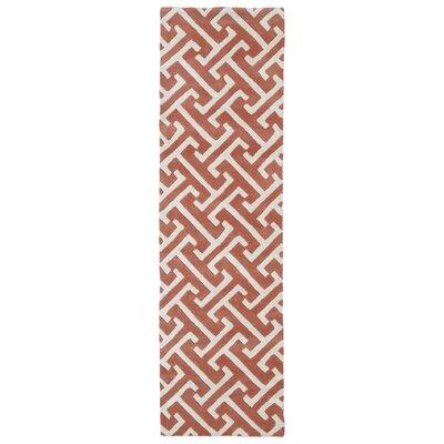 Vanauken Pink/White Area Rug Rug Size: Runner 23 x 8