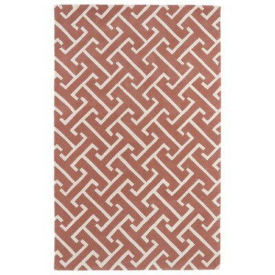 Vanauken Pink/White Area Rug Rug Size: Rectangle 8 x 11
