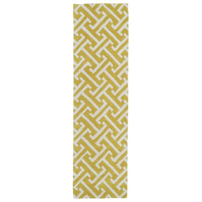 Vanauken Yellow/White Area Rug Rug Size: Runner 23 x 8