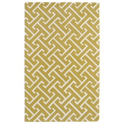 Vanauken Yellow/White Area Rug Rug Size: Rectangle 2 x 3