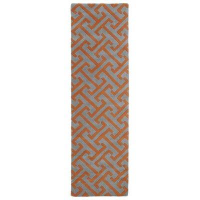 Bodine Grey/Red Area Rug Rug Size: Runner 23 x 8